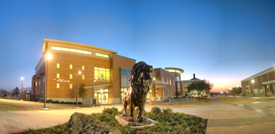 Exterior of the Rayburn Student Center at Texas A&M University-Commerce